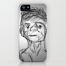 Man Art-Line Faces iPhone Case