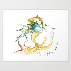 Fishing for inspiration Art Print