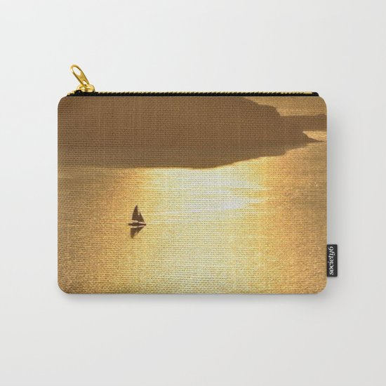 Golden Sailing on a Glittering Sea Carry-All Pouch