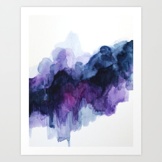 Purple abstract watercolor Art Print