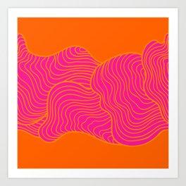 Tangerine and Pink  Art Print