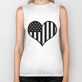 American heart Biker Tank