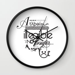 The Fourth Commandment Wall Clock