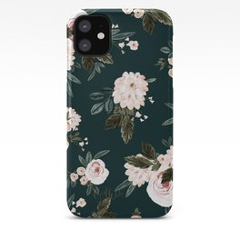 Moody Vintage Roses light iPhone Case