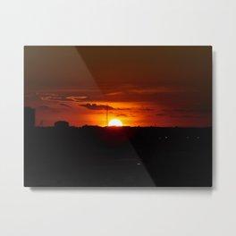 Sunset over Fort Lauderdale Metal Print