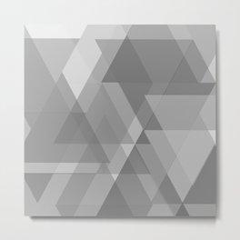 Gray bokeh Metal Print