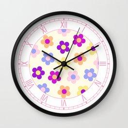 Flower Power Design Wall Clock