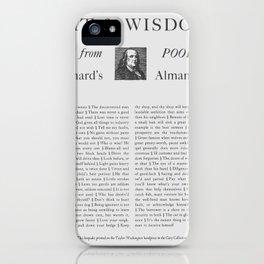 Wit & Wisdom from Poor Richard's Almanack iPhone Case