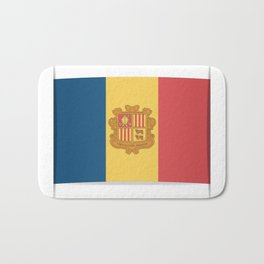 Flag of Andorra, officially the Principality of Andorra. Bath Mat