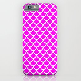 Scales (White & Magenta Pattern) iPhone Case