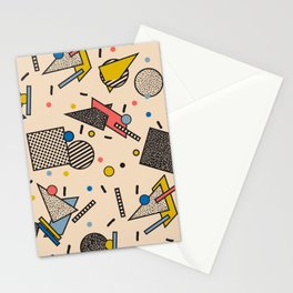 Memphis Inspired Pattern 7 Stationery Cards