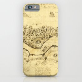 Original West Point Survey Map October 24th-27th 1783 iPhone Case