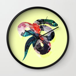 Painted Snake Wall Clock