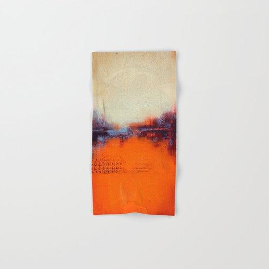 Orange and White Hand & Bath Towel