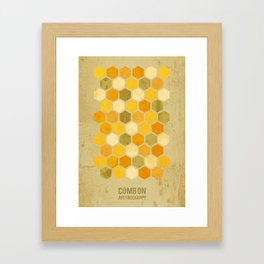 Comb on Bee happy Framed Art Print