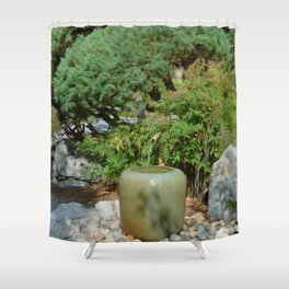Japanese garden 7 Shower Curtain