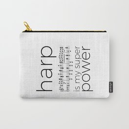 Harp is my super power (2) (white) Carry-All Pouch