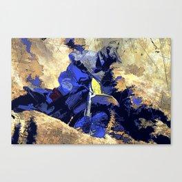 Digging In   -  Motocross Racer Canvas Print
