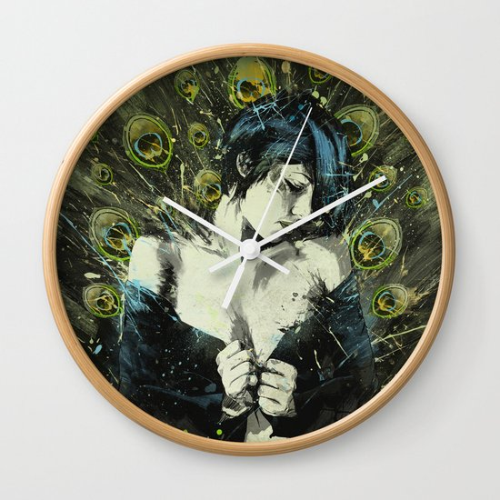 Black Pea Wall Clock