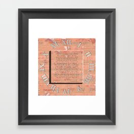 Statement Framed Art Print