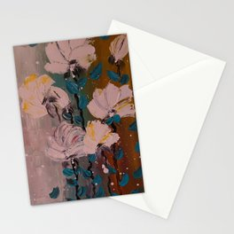 flori albe Stationery Cards