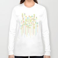 flowers Long Sleeve T-shirts featuring Overgrown flowers by Picomodi