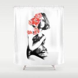 Natalia Vodianova // Fashion Illustration Shower Curtain