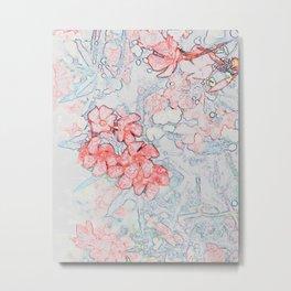 Spring Red Flowers Metal Print