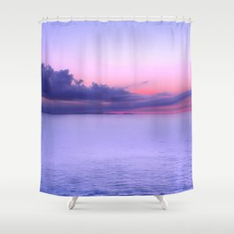Sunset Indigo Mood Shower Curtain