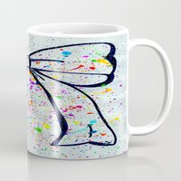 bow Mugs featuring Bow by T. Tamaiiya