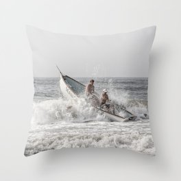 Lifeboat Margate Throw Pillow
