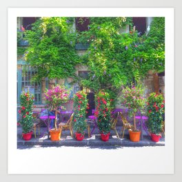 Colourful French Store Art Print