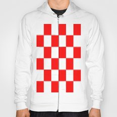 Red & White Checkerboard Hoody