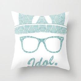 Aztec Letter I Throw Pillow