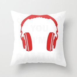 Video Gaming Gift Gamer Headset  Design Throw Pillow
