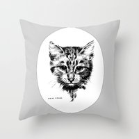 hamlet Throw Pillows featuring Hamlet by Iris V.