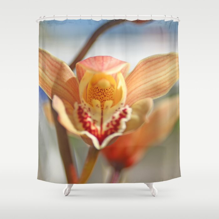 orchid flower ready to fly Shower Curtain