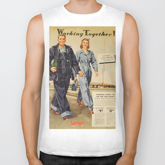 1942 Working Together Cover Biker Tank