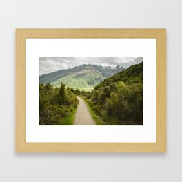 Lake Wanaka Lookout Framed Art Print