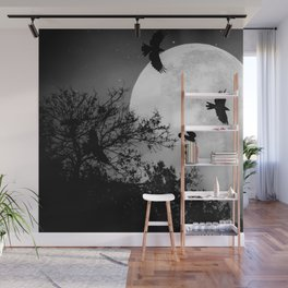Haunting Moon & Trees Wall Mural