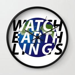 watch earthlings Wall Clock