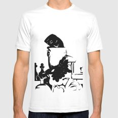 Ink Still Life Mens Fitted Tee White MEDIUM