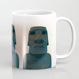 Easter Island Blue Man Statue Coffee Mug