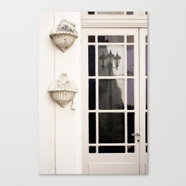 French Door Reflections Canvas Print