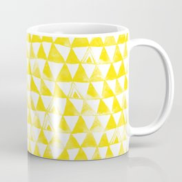 Yellow Tribal Triangles Coffee Mug