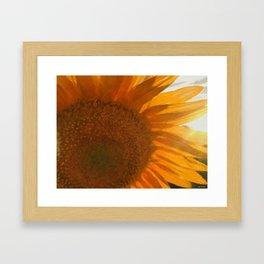 sun love Framed Art Print