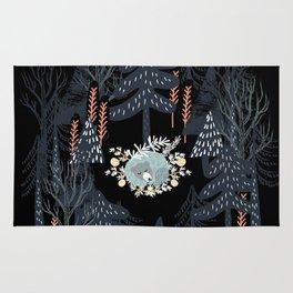fairytale night forest Rug