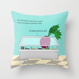 raw beet. Throw Pillow