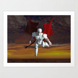 White Soldier Art Print
