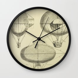 Mathieu's Airship Project Wall Clock
